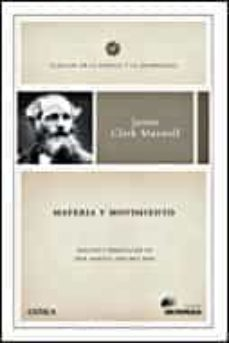materia y movimiento-james clerck maxwell-9788484327707