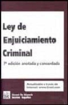 Costosdelaimpunidad.mx Ley De Enjuiciamiento Criminal (7ª Ed.) Image