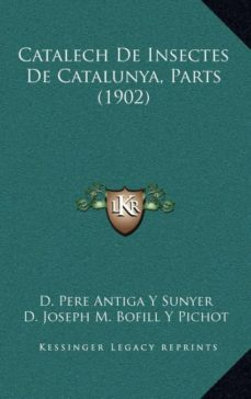 Inciertagloria.es Catalech De Insectes De Catalunya, Parts (1902) Image