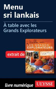 menu sri lankais - a table avec les grands explorateurs (ebook)-9782765805717
