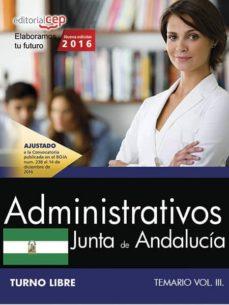 ADMINISTRATIVO (TURNO LIBRE). JUNTA DE ANDALUCÍA. TEMARIO