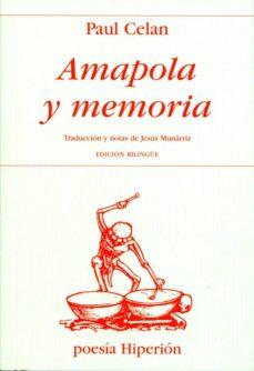amapola y memoria-paul celan-9788475171517