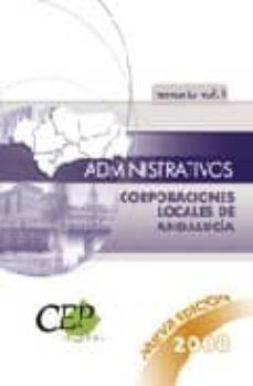 Mrnice.mx Oposiciones Administrativos Corporaciones Locales De Andalucia. Temario Volumen I. Image