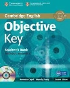 ¿Es seguro descargar libros gratis? OBJECTIVE KEY (STUDENT'S BOOK WITHOUT ANSWERS WITH CD-ROM)