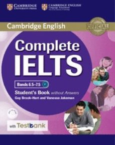 Descargando google ebooks nook COMPLETE IELTS BANDS 6.5-7.5 STUDENT S BOOK WITHOUT ANSWERS WITH CD-ROM WITH TESTBANK 9781316602027