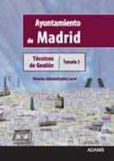 tecnicos de gestion ayuntamiento de madrid: temario 3-9788415392927