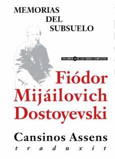 memorias del subsuelo (ebook)-fiodor mijailovich dostoevskii-9788415957027