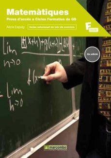 matematiques per a la prova d acces a cicles formatius a grau sup erior-alicia espuig-9788426717627