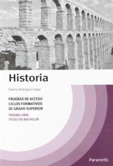 temario historia pruebas acceso ciclos formativos grado superior (2ª ed)-sabina rodriguez vega-9788428312127