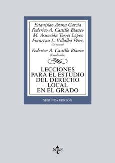 Upgrade6a.es Lecciones Para El Estudio Del Derecho Local En El Grado (2ª Ed.) Image