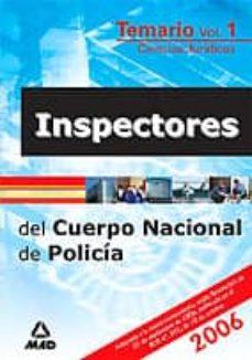 Relaismarechiaro.it Inspectores Del Cuerpo Nacional De Policia (Temario) (Vol. I) (Ci Encias Juridicas) Image