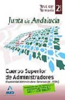 Geekmag.es Cuerpo Superior De Administradores (Esp.administracion General) De La Junta De Andalucia. (A1.1100). Test Del Temario. Volumen Ii Image