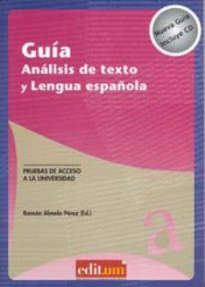 Premioinnovacionsanitaria.es Guía. Análisis De Texto Y Lengua Española (+ Cd) Image