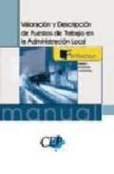 Permacultivo.es Valoracion Y Descripcion De Puestos De Trabajo En La Administraci On Local (Manual Formacion Continua Y Ocupacional) Image