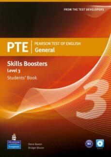Descarga gratuita de la librería. PEARSON TEST OF ENGLISH GENERAL SKILLS BOOSTER 3 STUDENTS  BOOK AND CDPACK de