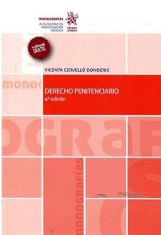 derecho penitenciario (4ª ed.)-vicenta cervellò donderis-9788491432937