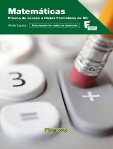 matematicas: prueba de acceso a ciclos formativos para grado supe rior-alicia espuig-9788426717047