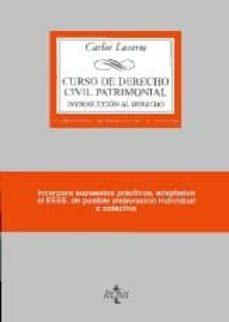 Inmaswan.es Curso De Derecho Civil Patrimonial: Introduccion Al Derecho (17ª Ed) Image