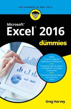 Descargar MICROSOFT EXCEL 2016 PARA DUMMIES gratis pdf - leer online
