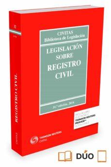 Descargar LEGISLACION SOBRE REGISTRO CIVIL gratis pdf - leer online