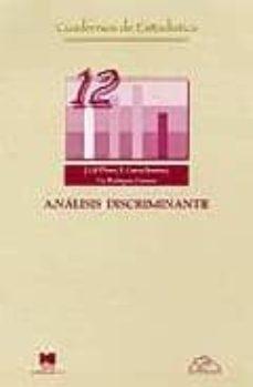 analisis discriminante-javier et al. gil flores-9788471337047