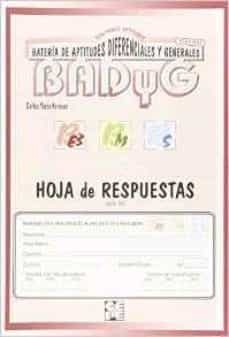 badyg hoja de respuestas e3-m-s revision 2011-carlos yuste hernanz-9788478697847