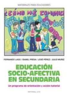 Canapacampana.it Educacion Socio-afectiva En Secundaria: Un Programa De Orientacio N Y Accion Tutorial Image