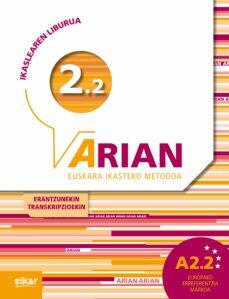 Libro de texto para descargar gratis ARIAN 2.2: IKASLEAREN LIBURUA de