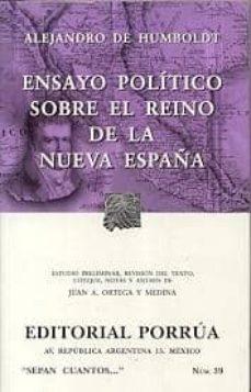 Cdaea.es Ensayo Politico Sobre El Reino De La Nueva España. 7ª Edicion Image