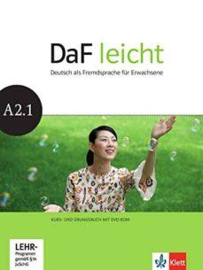 Descarga gratuita de libros de dominio público. DAF LEICHT ALUMNO+EJERCICIOS A2.1+DVD R