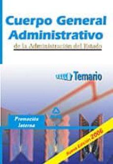 Titantitan.mx Cuerpo General Administrativo De La Administracion Del Estado: Te Mario: Promocion Interna Image