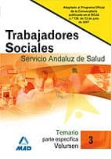 Costosdelaimpunidad.mx Trabajadores Sociales Del Servicio Andaluz De Salud. Temario Parte Especifica. Volumen Iii Image