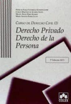 Viamistica.es Curso De Derecho Civil I. Derecho Privado. Derecho De La Persona (5ª Ed) Image