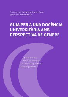 Coberta del llibre: Guia per a una docència universitària amb perspectiva de gènere