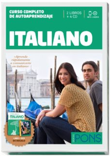 Titantitan.mx Curso Pons Italiano ( 2 Libros + 4 Cd's + Dvd + Cazapalabras) (Incluye Pelicula Dolce Vita En Version Original) (Nivel A1 A2) Image