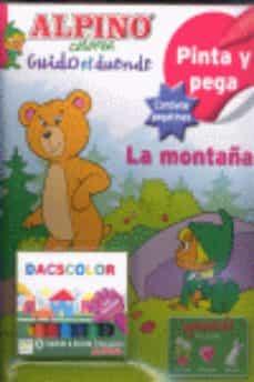 Permacultivo.es Pinta Y Pega La Montaña Con Ceras (Colorea Guido El Duende) Image