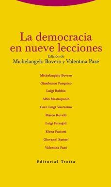 la democracia en nueve lecciones-michelangelo bovero-valentina paze-9788498795257