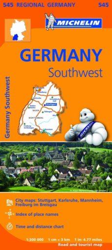 mapa regional germany southwest-9782067183667