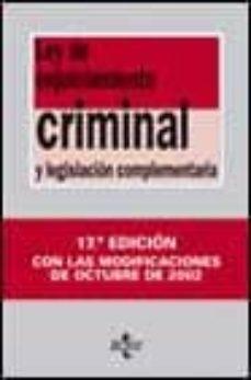 Inmaswan.es Ley De Enjuiciamiento Criminal Y Legislacion Complementaria (17ª Ed.) Image