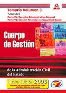Upgrade6a.es Cuerpo Gestion De Administracion Civil Estado: Temario (Vol. Iii) Turno Libre: Parte Iv: Gestion Financiera Y Seguridad Social Image