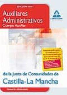 Mrnice.mx Auxiliares Administrativos (Cuerpo Auxiliar) De La Junta De Comun Idades De Castilla-la Mancha. Temario Abreviado Image
