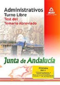 Javiercoterillo.es Administrativos Junta De Andalucia. Turno Libre. Test Del Temario Abreviado(adaptada Al Nuevo Programa) Image