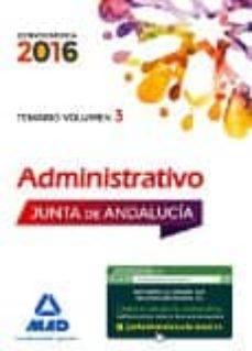 Enmarchaporlobasico.es Administrativos De La Junta De Andalucía Turno Libre. Temario Volumen 3 Image