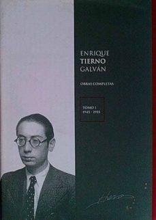 Cdaea.es Enrique Tierno Galván. Obras Completas Tomo I 1945-1955 Image