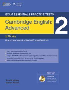 Ebook para la estructura de datos y algoritmo de descarga gratuita EXAM ESSENTIALS: CAMBRIDGE ADVANCED PRACTICE TESTS 2 W/KEY + DVD- ROM de