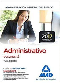 Valentifaineros20015.es Administrativo De La Administración General Del Estado (Turno Libre). Temario Volumen 3 Image