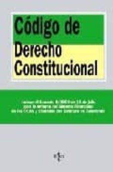 Vinisenzatrucco.it Codigo De Derecho Constitucional: Incluye Acuerdo 6/2009 De 15 De Julio Para La Reforma Del Sistema Financiero De Las Ccaa Y Ciudades Con Estatuto De Autonomia Image