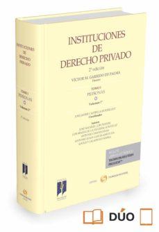 instituciones de derecho privado 1/1  personas-jose javier castiella rodríguez-9788447053377