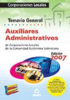 Chapultepecuno.mx Auxiliares Administrativos De Corporaciones Locales De La Comunid Ad Autonoma Valenciana. Temario General Image