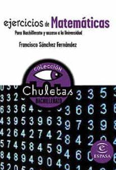 Encuentroelemadrid.es Ejercicios De Matematicas Para Bachillerato (Chuletas) Image